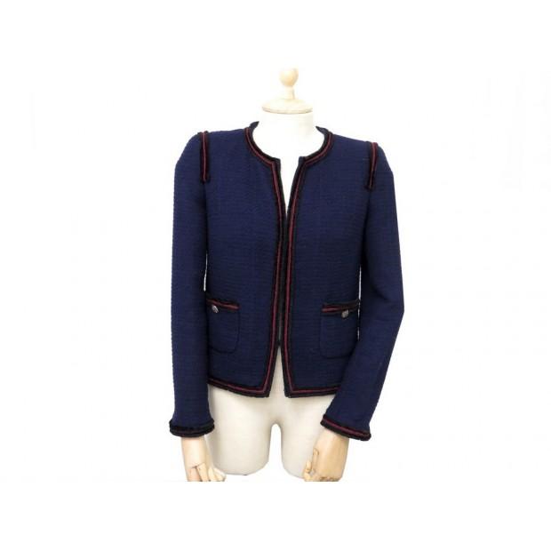 ab39bf5cc36 veste chanel 38 m femme en laine bleu collection