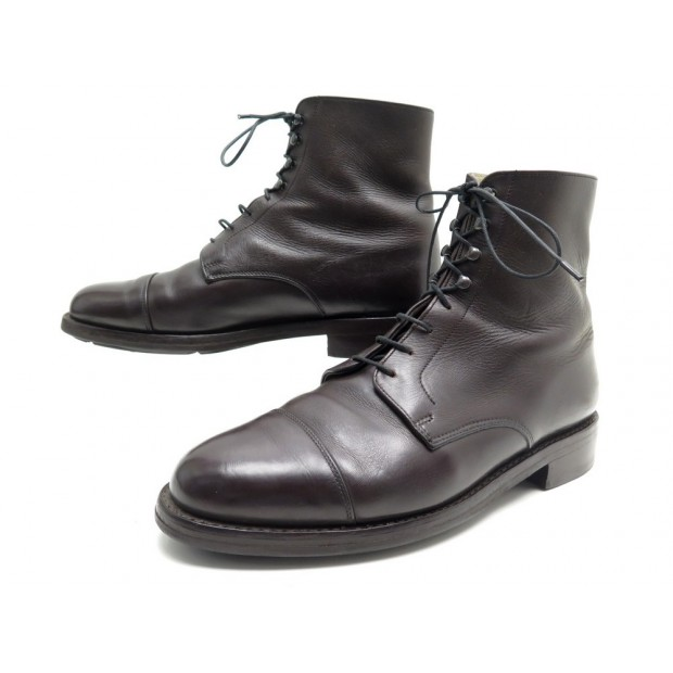 CHAUSSURES PARABOOT BOTTINES HALLES 8 42 CUIR MARRON BROWN LEATHER BOOTS 415€