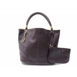 NEUF SAC A MAIN LANCEL FRENCH FLAIR A04827 CUIR GRAINE MARRON + POCHETTE 695€