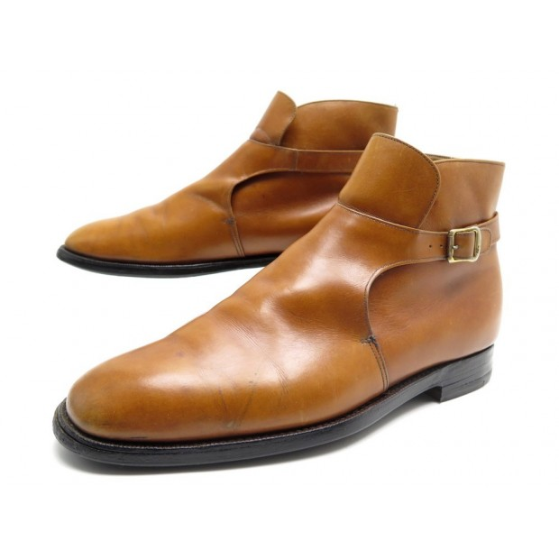 CHAUSSURES CHURCH'S BOTTINES A BOUCLE STOCKADE II 10F 44 CUIR CAMEL BOOTS 720€