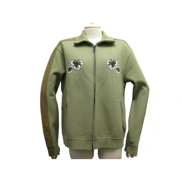 NEUF VESTE VALENTINO HAWAIIAN M 48 KAKI CARDIGAN FLEUR TIGRE TIGER SWEATER 1490€