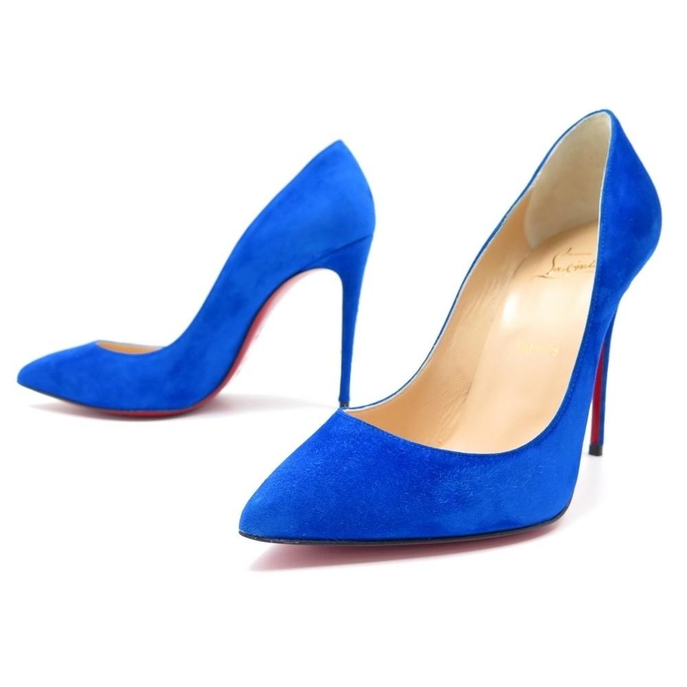 escarpin bleu louboutin
