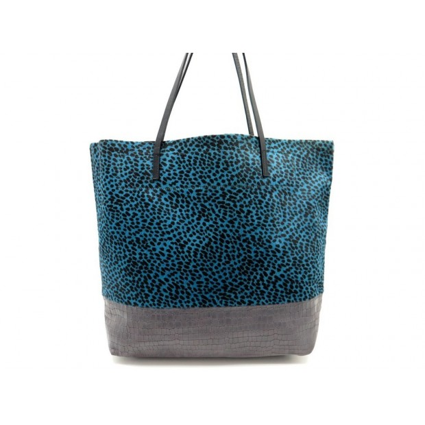 NEUF SAC A MAIN LINDE GALLERY CAYES M CUIR FACON CROCO & CRIN POULAIN TOTE 395€