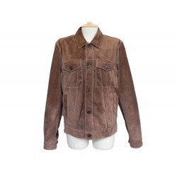 VESTE TOD'S BLOUSON 48 M EN CUIR SUEDE MARRON BROWN LEATHER JACKET COAT 2900€