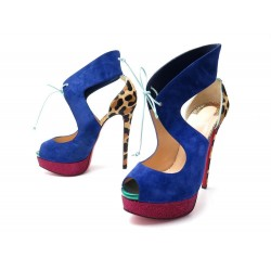 NEUF CHAUSSURES CHRISTIAN LOUBOUTIN SANDALES CAMPANINA A TALONS 39.5 SHOES 980€