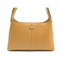 SAC A MAIN TOD'S PORTE EPAULE 32 CM EN CUIR GOLD LEATHER HAND BAG PURSE 995€
