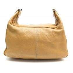 SAC A MAIN TOD'S PORTE EPAULE 34 CM EN CUIR GOLD LEATHER HAND BAG PURSE 995€