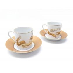 NEUF SET 2 TASSES A CAFE COUPELLES HAVILAND SERENGETI IMPALAS GUEPARDS CUPS 198€