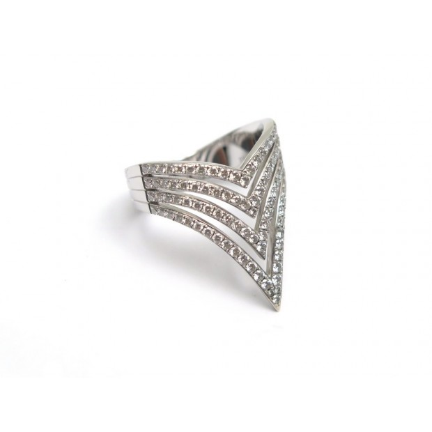 BAGUE MESSIKA QUEEN V T53 OR BLANC & DIAMANTS 0.86 CT ECRIN DIAMONDS RING 4445€