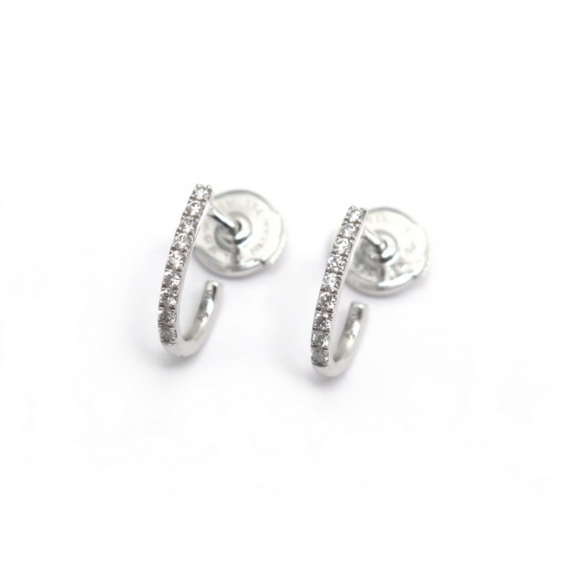 BOUCLES D'OREILLES MESSIKA CREOLES GATSBY XS 05741-WG OR BLANC & DIAMANTS 1180€