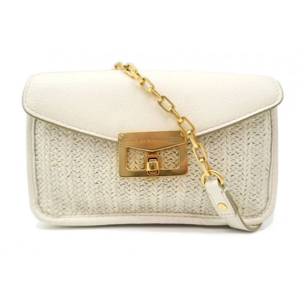 SAC A MAIN MARC BY MARC JACOBS POCHETTE PAILLE TRESSEE CUIR BANDOULIERE 250€