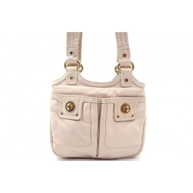 NEUF SAC A MARC BY MARC JACOBS POCHETTE CUIR BEIGE LEATHER HAND BAG PURSE 300€