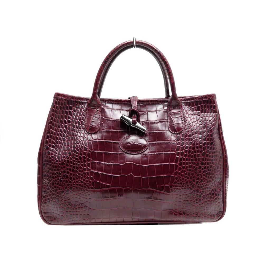 sac a main longchamp roseau s 168615009 cuir facon
