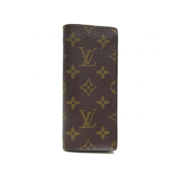 ETUI A LUNETTES LOUIS VUITTON TOILE MONOGRAM LV MARRON CANVAS GLASSES CASE 290€