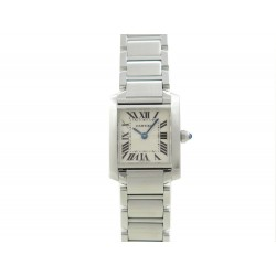 NEUF MONTRE CARTIER TANK PM W51008Q3 ACIER 25 MM + ECRIN NEW STEEL WATCH 3250€