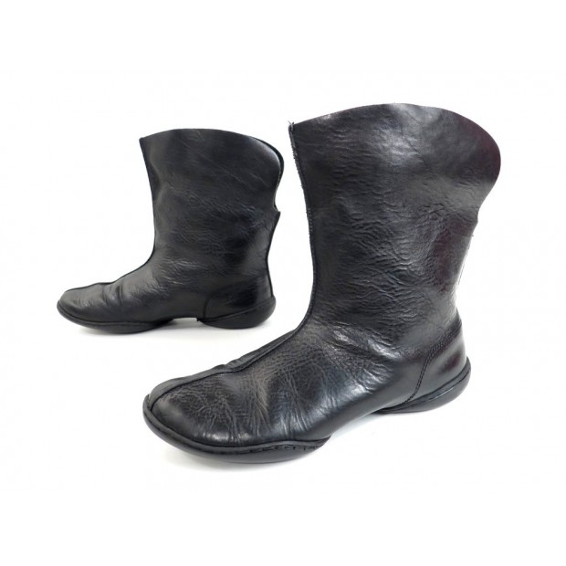 CHAUSSURES TRIPPEN BOTTINES FEMME 38 EN CUIR NOIR BLACK LEATHER BOOTS SHOES 210€