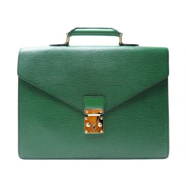 SACOCHE LOUIS VUITTON ROBUSTO 2 SOUFFLET EN CUIR EPI VERT LEATHER HAND BAG 3900€