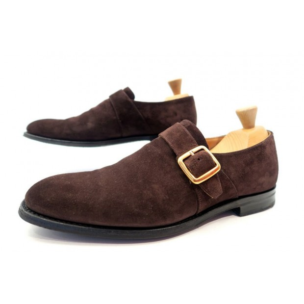 CHAUSSURES CHURCH'S WESTBURY SOULIERS A BOUCLE 8.5F 42.5 DAIM + EMBAUCHOIRS 590€