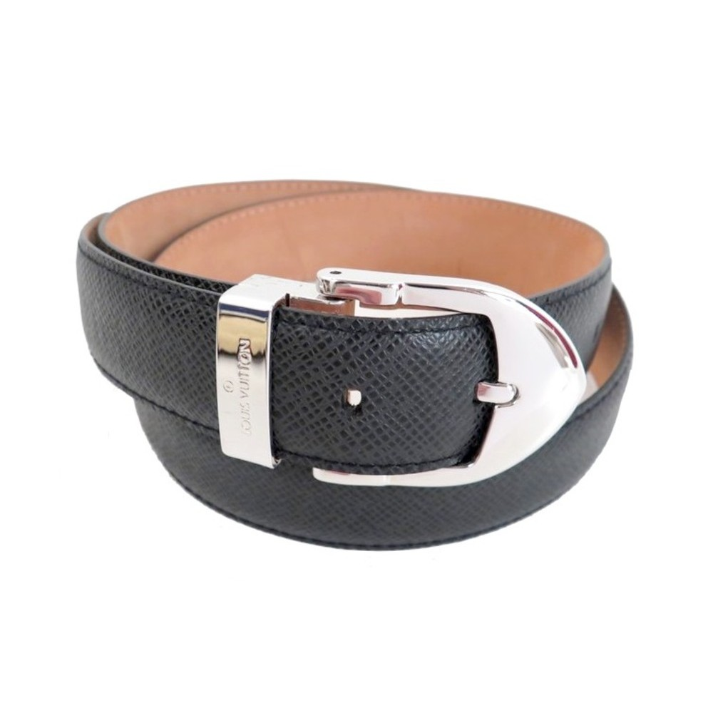 CEINTURE LOUIS VUITTON T80 EN CUIR TAIGA GRIS ANTHRACITE GREY LEATHER BELT  410€ fec54963ff6