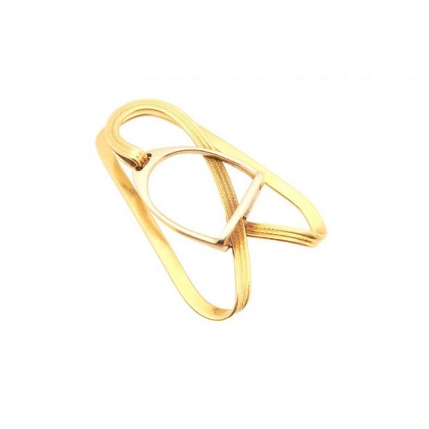 RARE VINTAGE PINCE A BILLETS HERMES ETRIER EN OR 18K 14.3GR ECRIN GOLD BILL CLIP