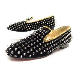 CHAUSSURES CHRISTIAN LOUBOUTIN 37 ROLLERBOY SPIKE SMOKING SLIPPER LOAFERS 1340€