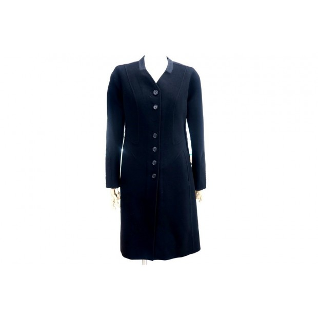 MANTEAU LONG CINTRE LOUIS VUITTON 36 FEMME EN CACHEMIRE NOIR CASHMERE COAT 1800€
