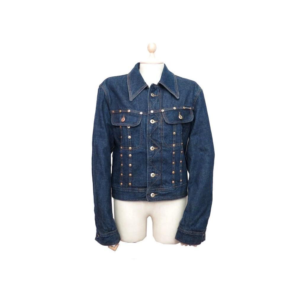 veste dolce gabbana femme m 38 en coton bleu jean 347609da234a