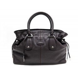 SAC TOD'S CUIR MARRON