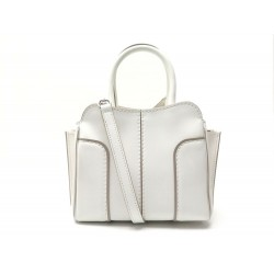 NEUF SAC A MAIN TOD'S MINI WANDA BANDOULIERE EN CUIR BLANC LEATHER HAND BAG 990€
