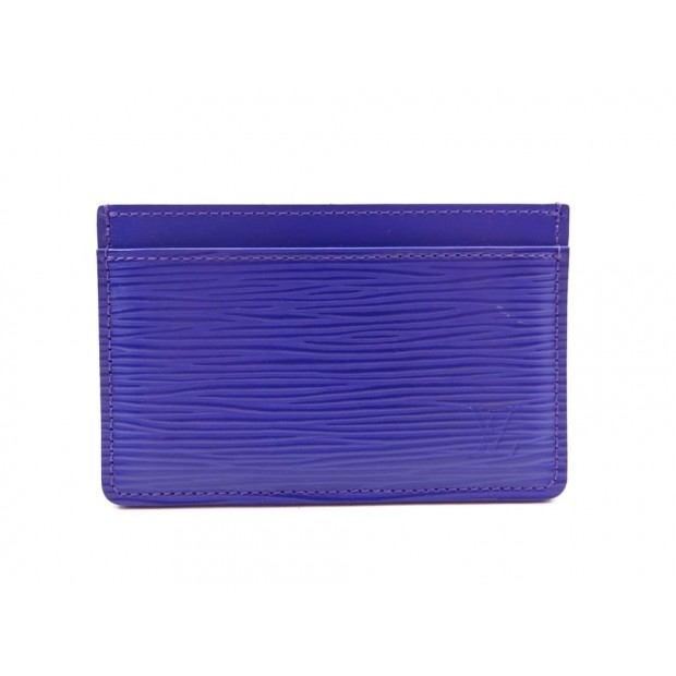 NEUF PORTE-CARTES SIMPLE LOUIS VUITTON EN CUIR EPI VIOLET CARDS HOLDER 165€