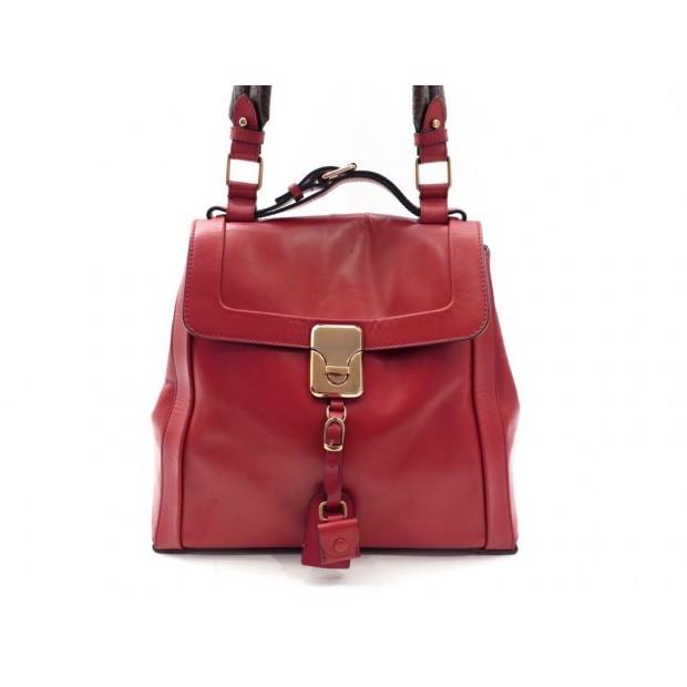 SAC A MAIN CHLOE DARLA GM 31 CM EN CUIR ROUGE RED LEATHER HAND BAG PURSE 1550€