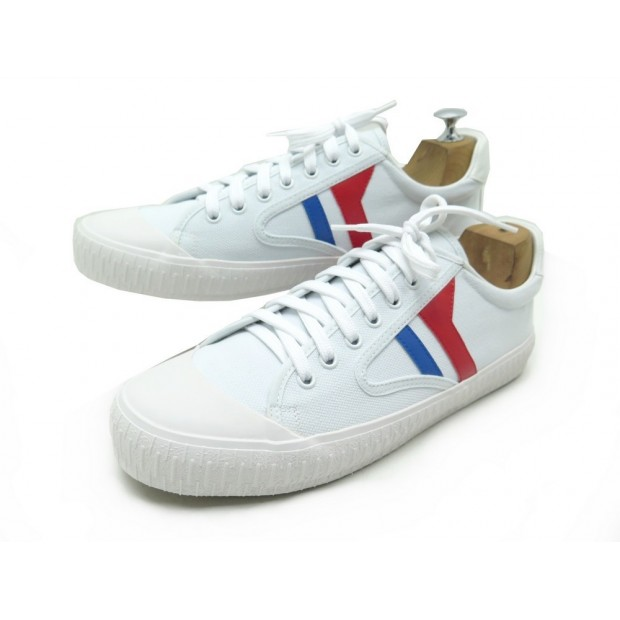 NEUF CHAUSSURES BASKET CELINE EN TOILE BLANCHE