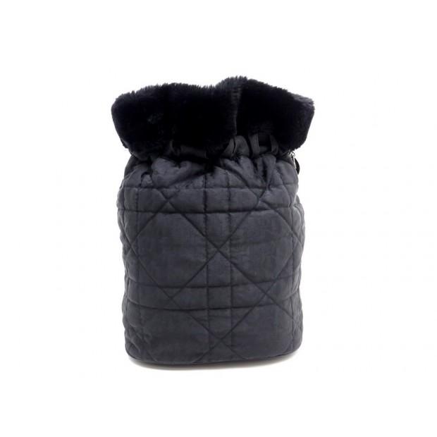 SAC A MAIN CHRISTIAN DIOR BOURSE 29 CM EN TOILE MATELASSE NOIR BAG PURSE 590€