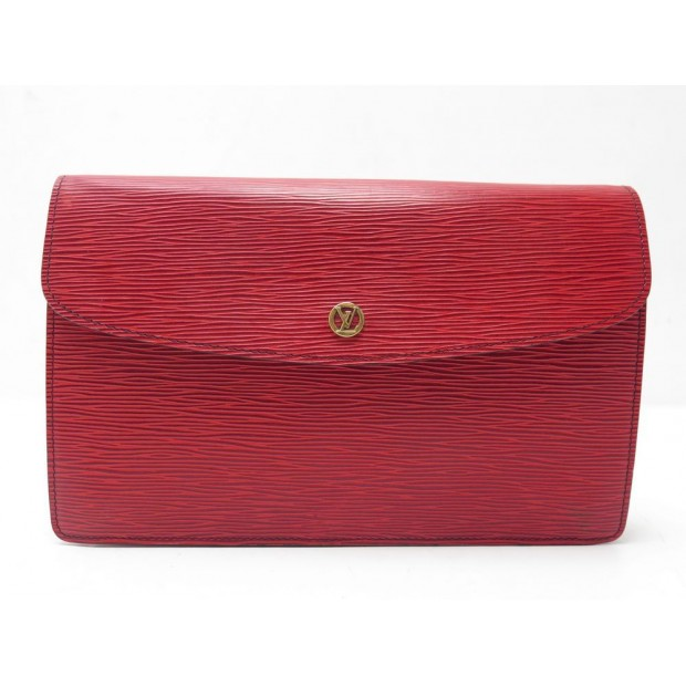 POCHETTE LOUIS VUITTON CUIR EPI ROUGE