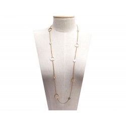 COLLIER SAUTOIR BULGARI BULGARI OR ROSE NACRE