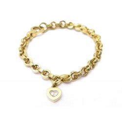 BRACELET CHOPARD HAPPY DIAMOND HEART 853468 17 CM EN OR JAUNE 18K DIAMANT 4030€