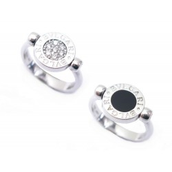 BAGUE BULGARI BULGARI OR BLANC 18CT ET DIAMANTS