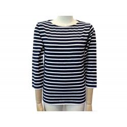TSHIRT SAINT LAURENT MARINIERE 371964 T40 M EN COTON BLEU BLUE COTTON TOP 850€