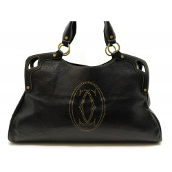SAC A MAIN CARTIER MARCELLO XL CUIR GRAINE NOIR