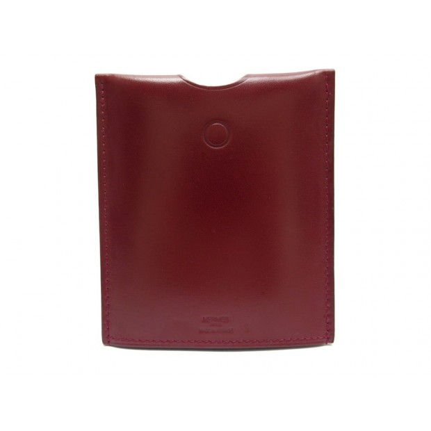 NEUF LAMPE DE POCHE HERMES IN THE POCKET CUIR BOX ROUGE H 1