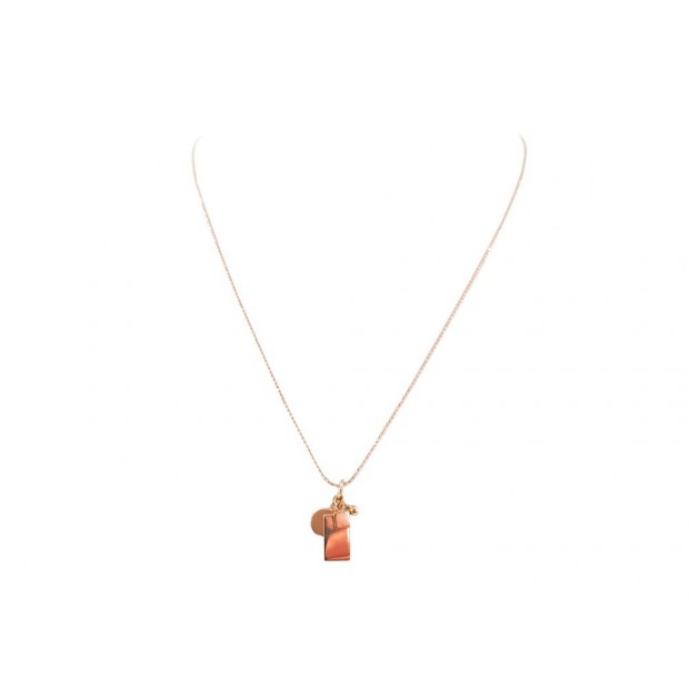 NEUF COLLIER GINETTE NY OR ROSE