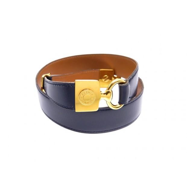 ceinture hermes t 70 s en cuir box bleu decor 897f43f8861