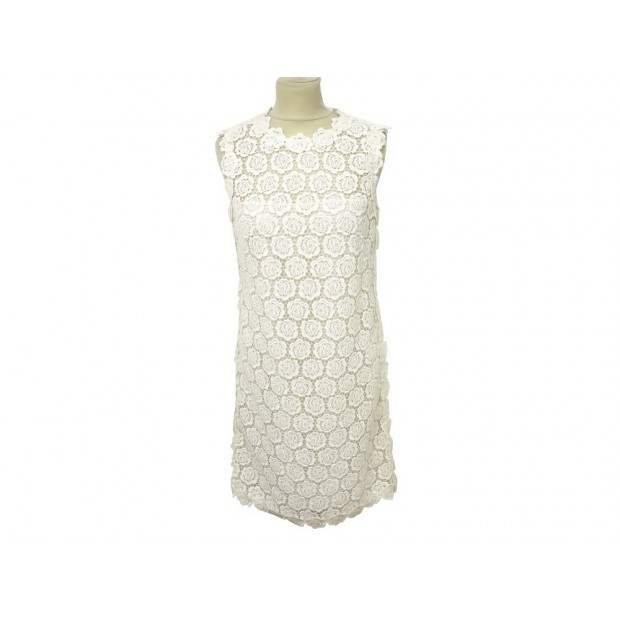 ROBE BRODEE VALENTINO 42 IT 38 FR M EN COTON BLANC WHITE EMBROIDERY DRESS 2600€