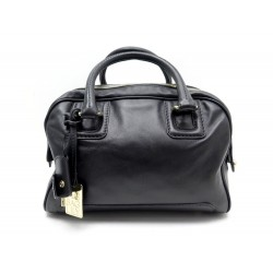SAC A MAIN DOLCE & GABBANA LILY EN CUIR NOIR BLACK LEATHER HAND BAG PURSE 1255€