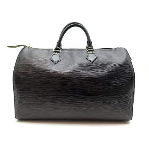 AAM1600 452A Louis Vuitton Speedy 35 Black Epi