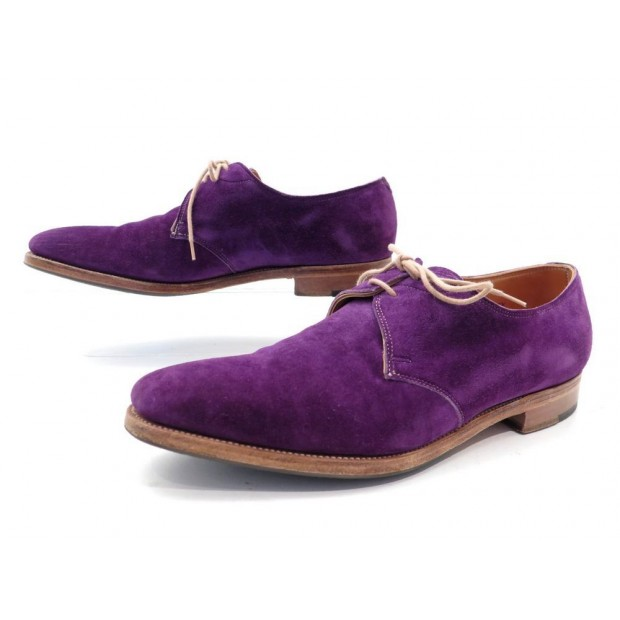 CHAUSSURES PAUL SMITH & JOHN LOBB WILLOUGHBY 6E 39.5 40 DERBY SUEDE VIOLET 1320€