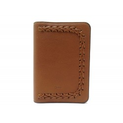 NEUF PORTE PASSEPORT CHLOE MARCIE CUIR MARRON + BOITE BROWN LEATHER WALLET 200€
