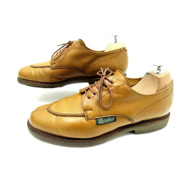 CHAUSSURES PARABOOT DERBY DEMI CHASSE 8 42 CUIR CAMEL HOMME LEATHER SHOES 310€
