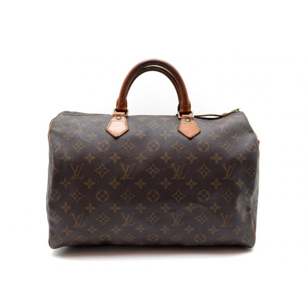 AAK8433 277B Louis Vuitton Speedy 35 Brown Monogram Canvas