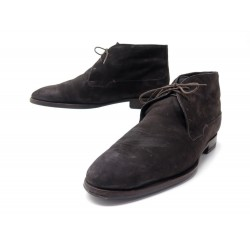 CHAUSSURES BERLUTI BOTTINES CHUKKA FOURREES 42.5 43 EN CUIR SUEDE SHOES 1720€